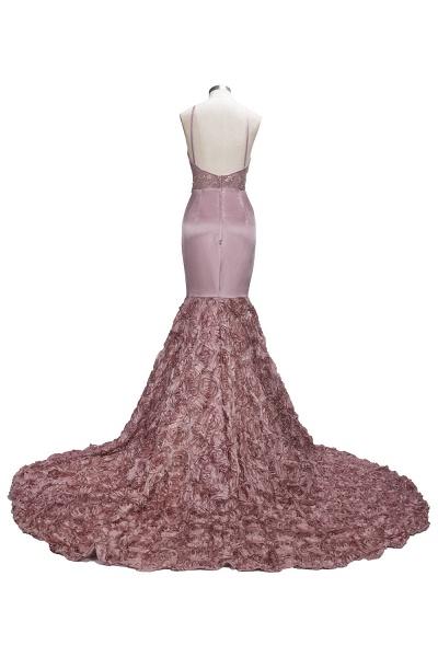 SALOME   Mermaid Long Spaghetti Rose Flowers Pink Beaded Prom Dresses_3
