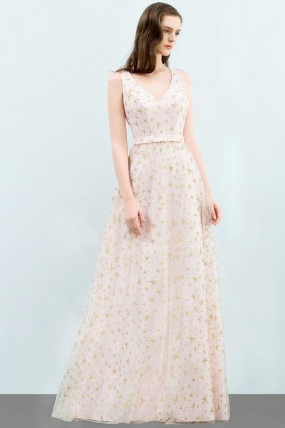 Affordable V-neck Tulle A-line Evening Dress_8