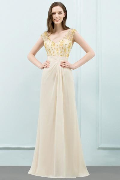 Attractive V-neck Chiffon A-line Evening Dress_4