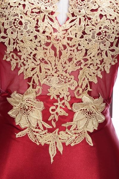 THELMA   Mermaid High Neck Long Sleeves Floor Length Appliqued Prom Dresses_7