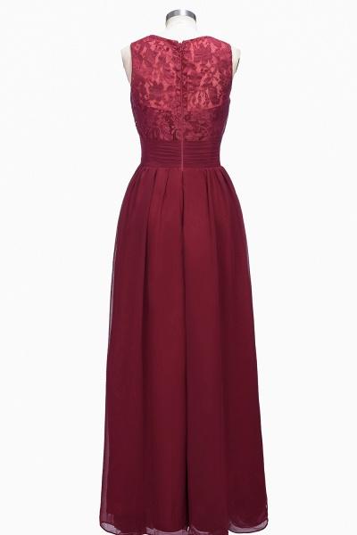 TONI | A-line V-neck Sleeveless Lace Ruffled Chiffon Prom Dresses_3