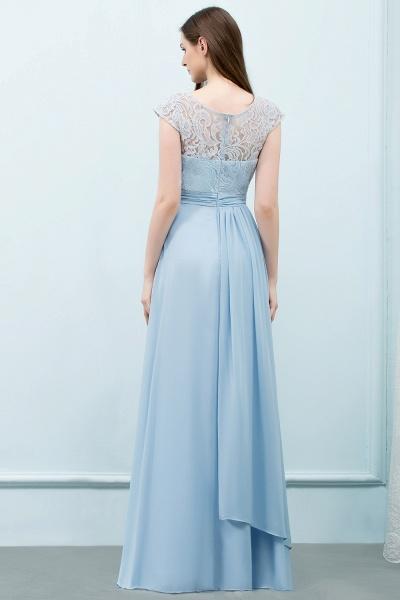 A-line Chiffon Lace Scoop Cap Sleeves Floor-Length Bridesmaid Dresses_2