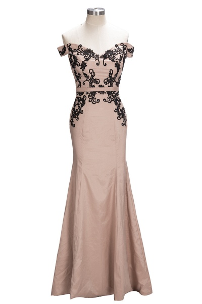 Off The Shoulder Cap Sleeves Lace Mermaid Bridesmaid Dress_2