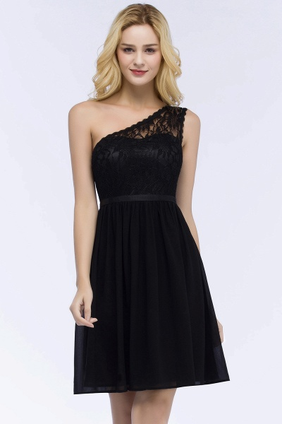 ROSA | A-line Short One-shoulder Lace Top Chiffon Homecoming Dresses with Sash_4