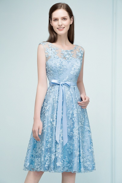 RENATA | A-line Sleeveless Knee Length Appliques Homecoming Dresses with Robbin Sash_8