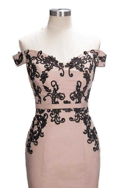 Off The Shoulder Cap Sleeves Lace Mermaid Bridesmaid Dress_4