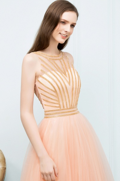 Exquisite Jewel Tulle A-line Homecoming Dress_4
