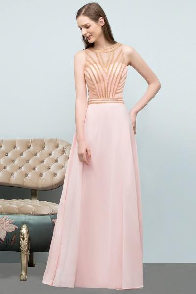 Sleek Jewel Chiffon A-line Evening Dress_6