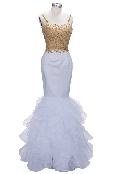 THALIA | Mermaid Spaghetti Sweetheart Long Tulle Prom Dresses with Crystals_5