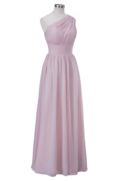 VIOLET | A-line One-shoulder Floor Length Ruffled Chiffon Bridesmaid Dresses_5