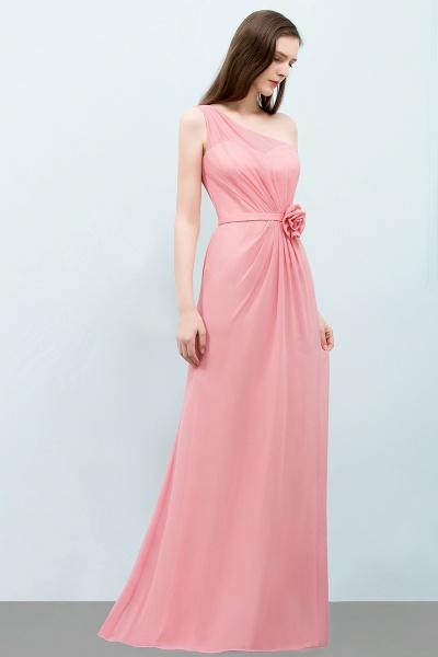 One Shoulder Mermaid Floor Length Bridesmaid Dress_7