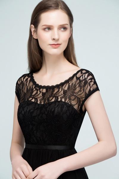 A-Line Chiffon Lace Scoop Sleeveless Knee-Length Bridesmaid Dresses_5