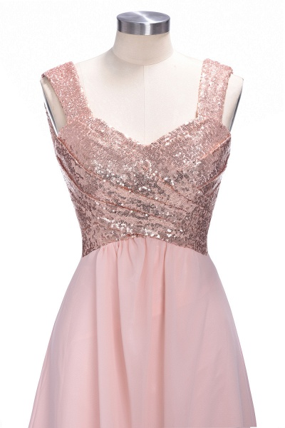TESSIE | A-line Sweetheart Sleeveless Long Sequins Chiffon Prom Dresses_4