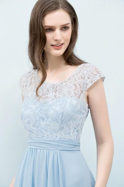 A-line Chiffon Lace Scoop Cap Sleeves Floor-Length Bridesmaid Dresses_4