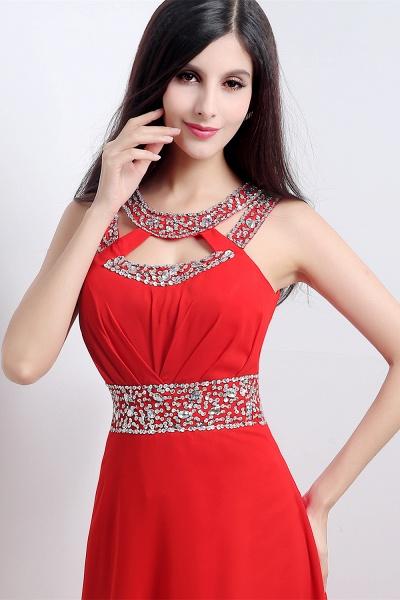 Excellent Halter Chiffon A-line Evening Dress_6