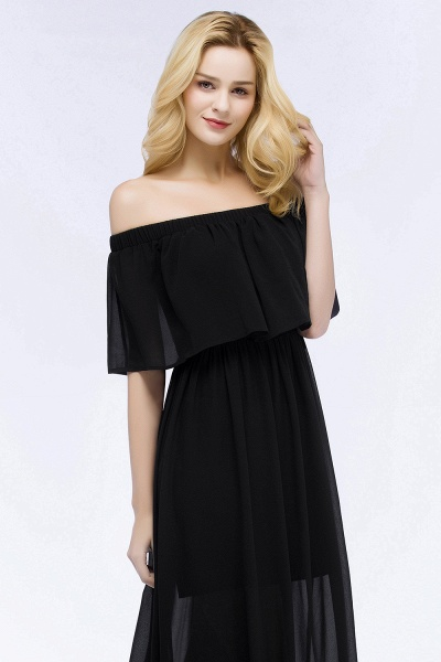 Chic Off-the-shoulder Chiffon A-line Bridesmaid Dress_9