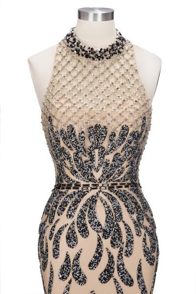 JIMENA | Mermaid Halter Floor Length Sequined Patterns Prom Dresses_9