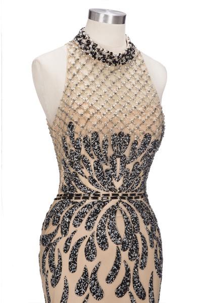 JIMENA | Mermaid Halter Floor Length Sequined Patterns Prom Dresses_7