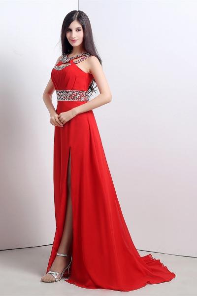 Excellent Halter Chiffon A-line Evening Dress_7