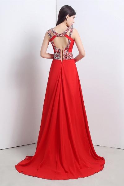 Excellent Halter Chiffon A-line Evening Dress_4