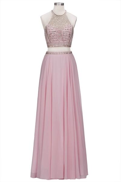 ROSETTA | A-line Two-piece Floor Length Crystals Beading Chiffon Prom Dresses_8