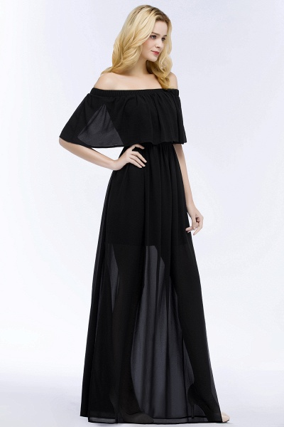 Chic Off-the-shoulder Chiffon A-line Bridesmaid Dress_7