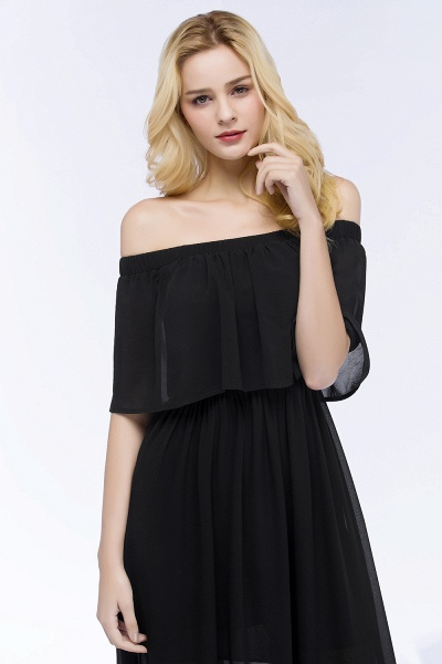 Chic Off-the-shoulder Chiffon A-line Bridesmaid Dress_11