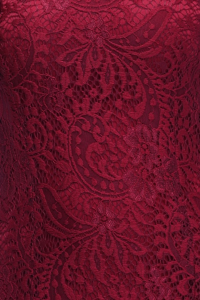 Mermaid Floor Length Halter Lace Burgundy Bridesmaid Dresses_8