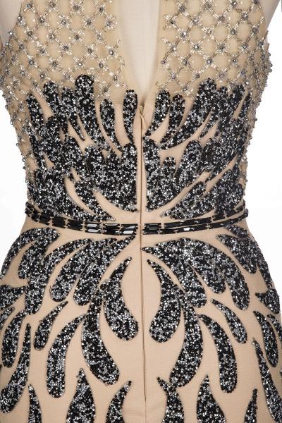 JIMENA | Mermaid Halter Floor Length Sequined Patterns Prom Dresses_10