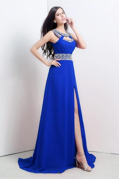 Excellent Halter Chiffon A-line Evening Dress_2