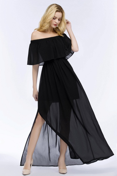 Chic Off-the-shoulder Chiffon A-line Bridesmaid Dress_10