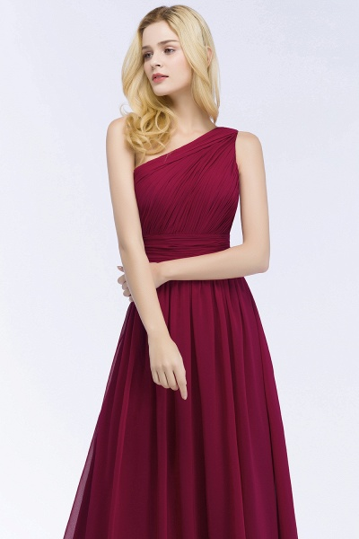 Elegant A-Line Chiffon One-Shoulder Sleeveless Ruffles Floor-Length Bridesmaid Dresses_5