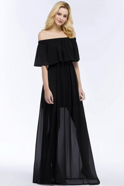 Chic Off-the-shoulder Chiffon A-line Bridesmaid Dress_8