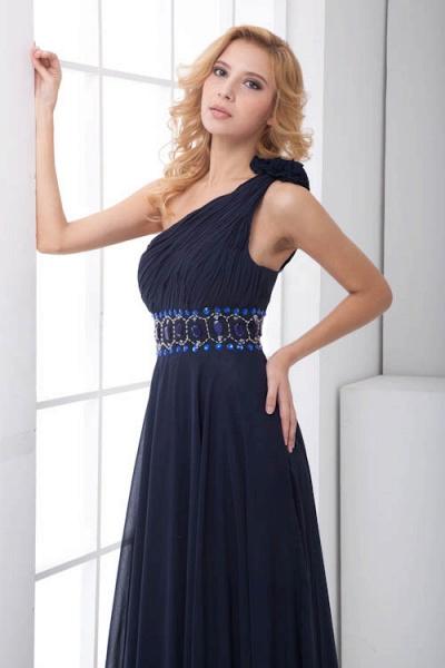 Fascinating One Shoulder Chiffon A-line Bridesmaid Dress_3