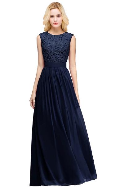 Sheath Crew Sleeveless Floor-length Lace Top Chiffon Bridesmaid Dresses_11