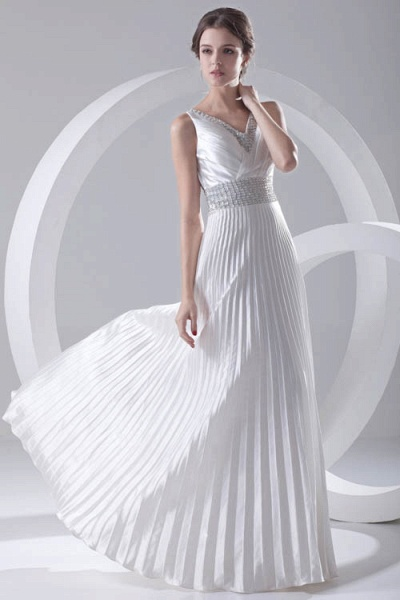 Beautiful V-neck Chiffon A-line Bridesmaid Dress_4