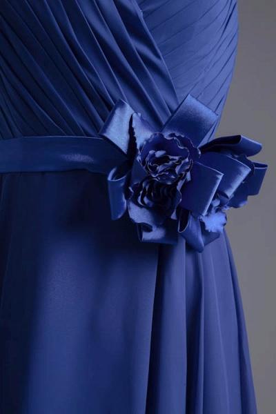 Excellent V-neck Chiffon A-line Bridesmaid Dress_6