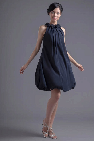 Affordable Jewel Chiffon A-line Bridesmaid Dress_6
