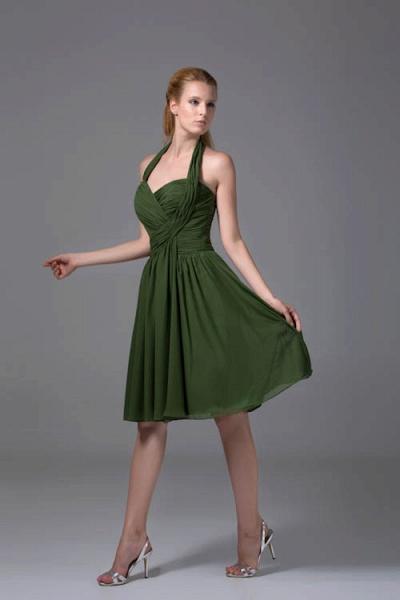 Best Halter Chiffon A-line Bridesmaid Dress_6