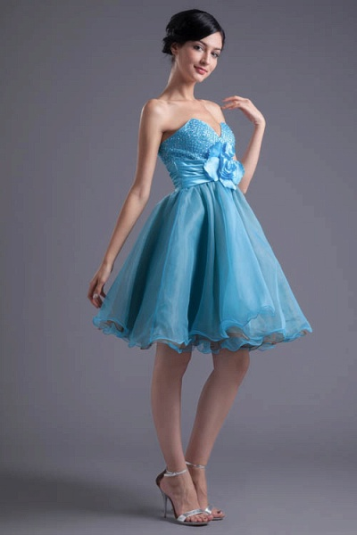Best Strapless Chiffon A-line Bridesmaid Dress_5