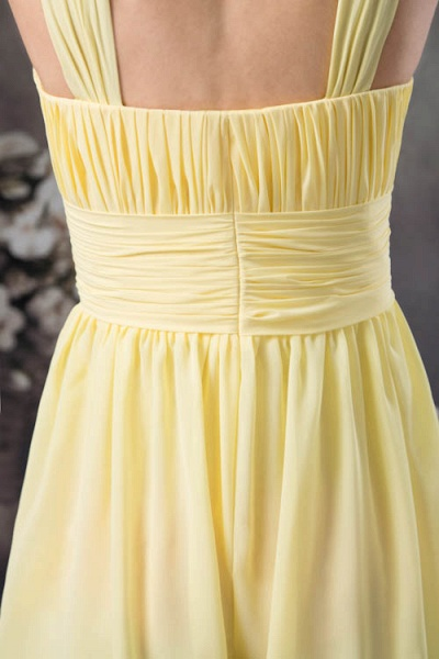 Eye-catching Straps Chiffon A-line Bridesmaid Dress_5