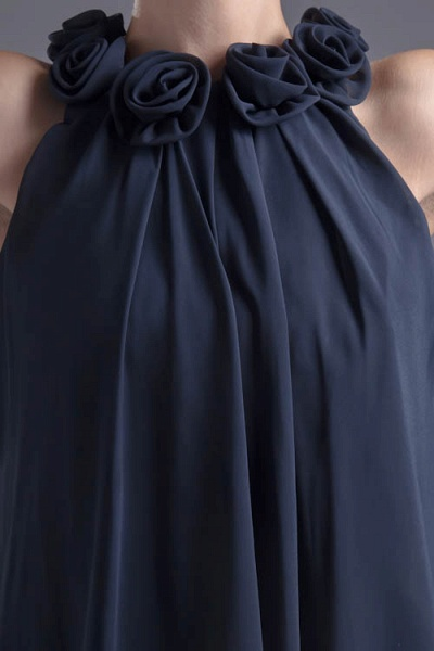 Affordable Jewel Chiffon A-line Bridesmaid Dress_5