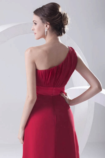 Excellent One Shoulder Chiffon A-line Bridesmaid Dress_5