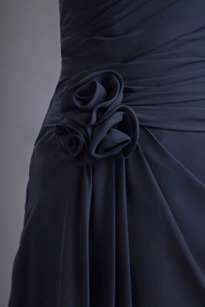 KYLEIGH | A Type One-shoulder Chiffon Bridesmaid Dress with Fold_6