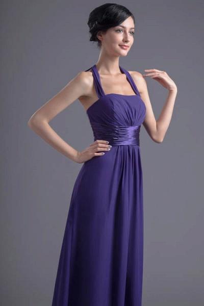 Sleek Halter Chiffon A-line Bridesmaid Dress_4