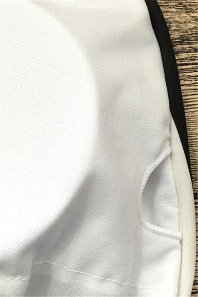 Black and white stripes One-piece Swimwear_5