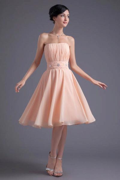 Awesome Strapless Chiffon A-line Bridesmaid Dress_1
