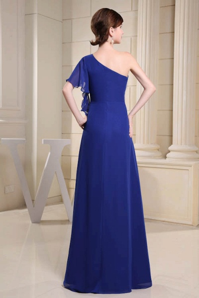 KIRA | A Type One Shoulder Chiffon Bridesmaid Dress with Fold_3