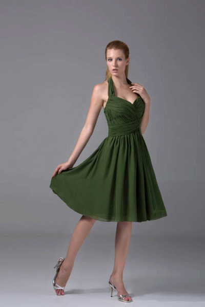 Best Halter Chiffon A-line Bridesmaid Dress_8