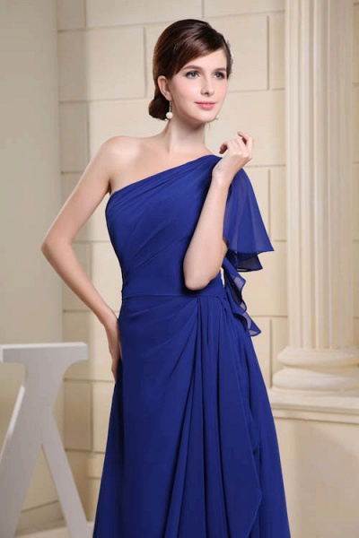 KIRA | A Type One Shoulder Chiffon Bridesmaid Dress with Fold_8